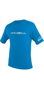 2019 O'Neill Youth Basic Skins Short Sleeve Rash Tee BRITE BLUE 3422