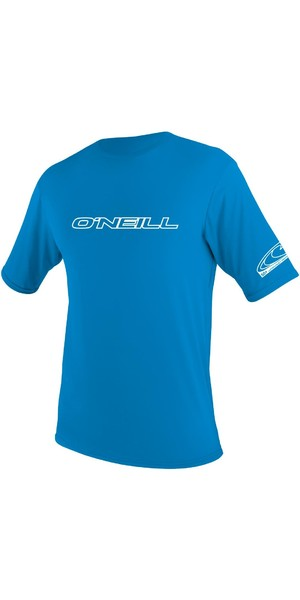 2018 O'Neill Youth Basic Skins Short Sleeve Rash Tee BRITE BLUE 3422