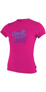 O'Neill Youth Girls Short Sleeve Rash Tee BERRY 4118