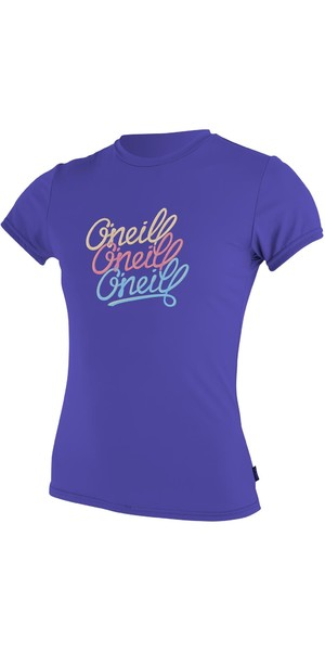 O'Neill Youth Girls Short Sleeve Rash Tee COBALT 4118