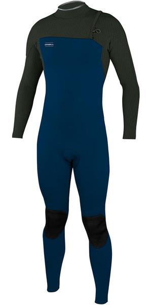 2018 O'Neill Youth Hyperfreak Comp 4/3mm Zip Free Wetsuit SLATE / DARK OLIVE 5007
