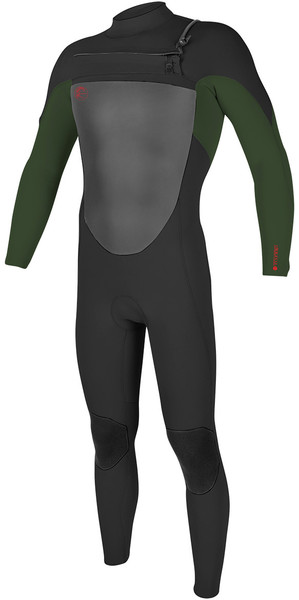 2018 O'Neill Youth O'Riginal 5/4mm Chest Zip Wetsuit BLACK / OLIVE / RED 4999