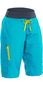 2019 Palm Womens Horizon Canoe / Kayak Shorts Aqua 12125