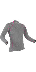 2019 Palm Womens Arun Long Sleeve Base Layer in Heather Grey 11449
