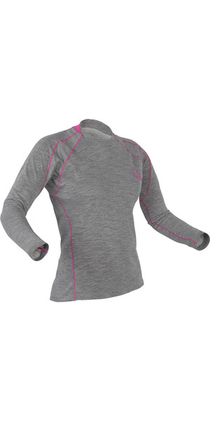 2018 Palm Ladies Arun Long Sleeve Base Layer in Heather Grey 11449