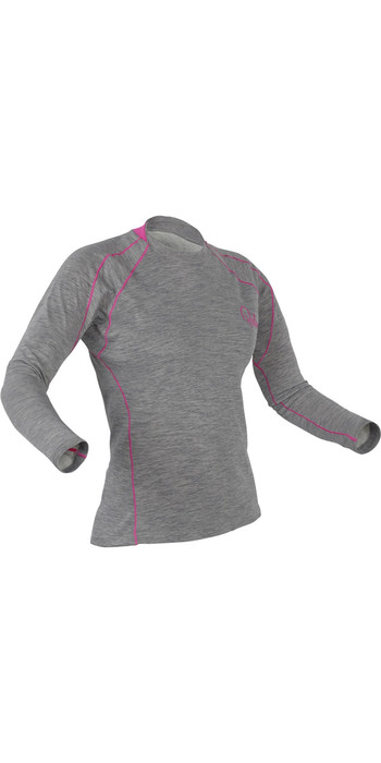 2021 Palm Womens Arun Long Sleeve Base Layer in Heather Grey 11449