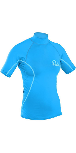 2018 Palm Ladies Short Sleeve Rash Vest AQUA 12195