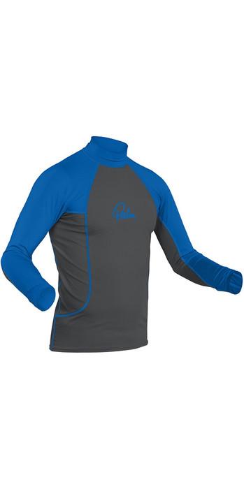 2021 Palm Long Sleeve Rash Vest Jet Grey / Blue 12192