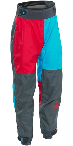 2019 Palm Rocket Junior / Kids Kayak Trousers Aqua / Red 12128