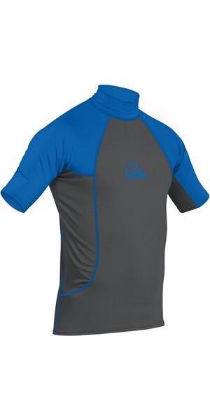 2019 Palm Short Sleeve Rash Vest Jet Grey / Blue 12193