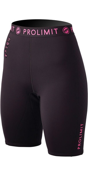 Prolimit Womens SUP 1mm Neoprene Shorts Black / Pink 54485