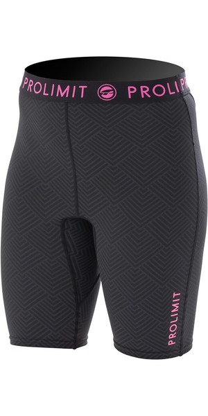 Prolimit Ladies SUP Quick Dry Shorts Black / Pink 74790