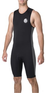 2019 Rip Curl Aggrolite 2mm Back Zip Short John Wetsuit BLACK WSP6DM
