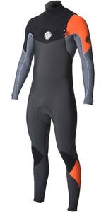 2018 Rip Curl E-Bomb 4/3mm Chest Zip Wetsuit ORANGE WST7BE