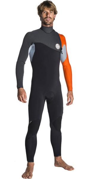 2018 Rip Curl Flashbomb 3/2mm Zip Free Wetsuit ORANGE WSM7RF