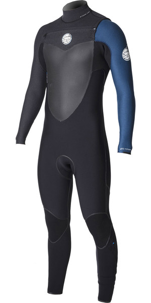 2018 Rip Curl Flashbomb 4/3mm Chest Zip Wetsuit BLUE WSU7NF