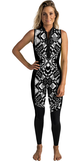 Rip Curl Womens G-bomb 1.5mm Long Jane Wetsuit Black / White Wsm6as Picture