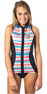 Rip Curl Womens G-Bomb 1mm Sleeveless Neoprene Vest STRIPE WVE6BW