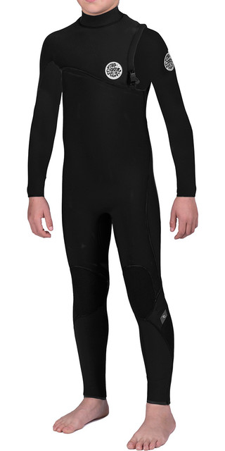 Rip Curl Junior Flash Bomb 5/3mm Gbs Zip Free Steamer Wetsuit Black Wsm6nb Picture