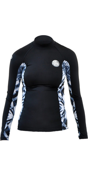 Rip Curl Ladies All Over Long Sleeve Rash Vest TITANIUM WLE8KW