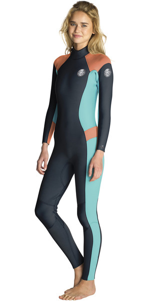 2018 Rip Curl Womens Dawn Patrol 4/3mm Back Zip Wetsuit PEACH WSM6FW