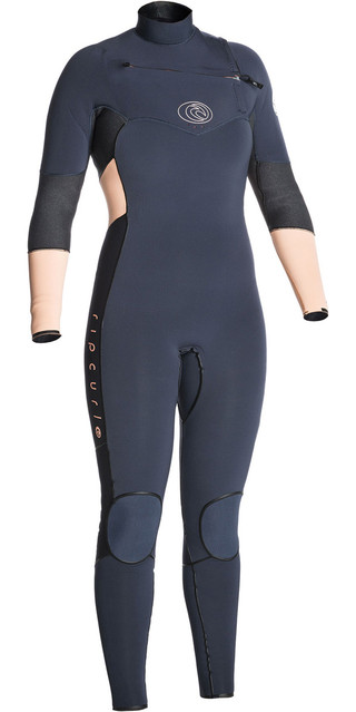 2018 Rip Curl Womens Flashbomb 4/3mm Gbs Chest Zip Wetsuit Peach Wsm7fg Picture