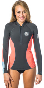 Rip Curl Womens G-Bomb 1mm Long Sleeve Front Zip Neo Jacket CORAL WVE6JW