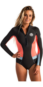 Rip Curl Ladies G-Bomb 1mm Long Sleeve Hi Cut Shorty Wetsuit CORAL WSP6EW