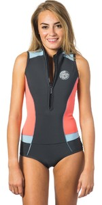 Rip Curl Womens G-Bomb 1mm Sleeveless Shorty Wetsuit CORAL WSP6HW