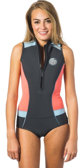 Rip Curl Womens G-bomb 1mm Sleeveless Shorty Wetsuit Coral Wsp6hw Picture
