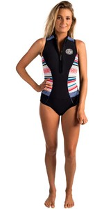 Rip Curl Womens G-Bomb 1mm Sleeveless Shorty Wetsuit STRIPE WSP6MW
