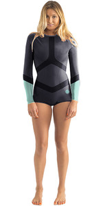 Rip Curl Womens Madi 1mm Long Sleeve Boyleg Shorty Wetsuit Blue WSP6DW