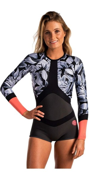 Rip Curl Womens Madi 1mm Long Sleeve Boyleg Spring Shorty Wetsuit CORAL WSP6CW