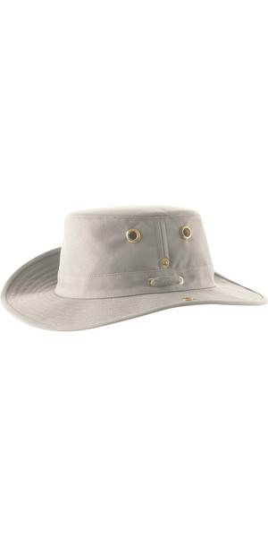 2018 Tilley T3 Snap-Up Brimmed Hat - NATURAL / GREEN