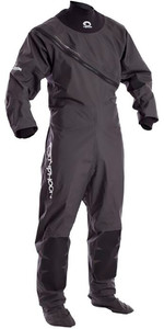 2019 Typhoon Junior Ezeedon 3 Drysuit Front Zip + Fabric Socks Grey 100158