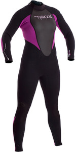 2019 Typhoon Junior Girls Storm 3/2mm Wetsuit Black / Iris 250942