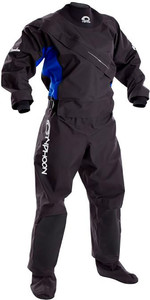 2018 Typhoon Womens Ezeedon 3 Front Zip Drysuit INCLUDING UNDERFLEECE BLACK / Blue 100159