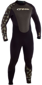 2019 Typhoon Storm 5/4/3mm GBS Wetsuit Black / Gold Print 250663