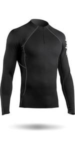 2021 Zhik Mens Hydrophobic Fleece Top Quarter Zip BLACK TOP410ZM