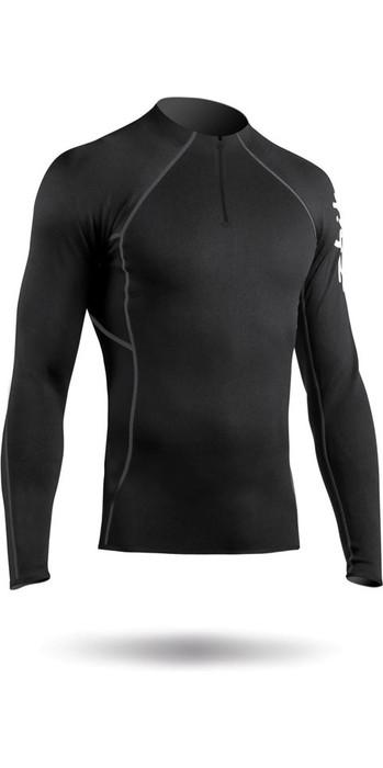 2020 Zhik Mens Hydrophobic Fleece Top Quarter Zip BLACK TOP410ZM