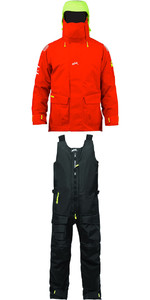 2019 Zhik Isotak 2 Jacket JK851 & Salopettes SAL851 Combi Set Flame Red / Black