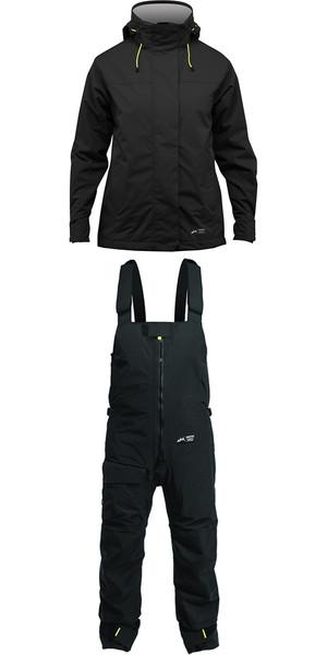 2019 Zhik Kiama Womens Harbour & Inshore Jacket J101W & Trouser TR101 Combi Set Black / Black