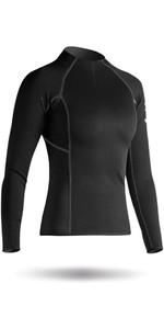 2021 Zhik Womens Hydrophobic Fleece Top Quarter Zip BLACK Top410ZW