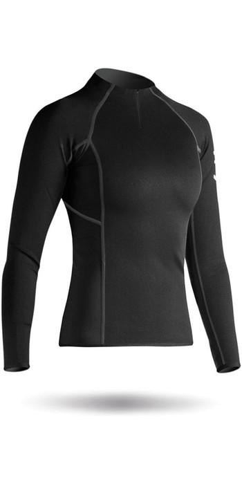 2020 Zhik Womens Hydrophobic Fleece Top Quarter Zip BLACK Top410ZW