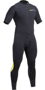 2019 Gul Code Zero 3/2mm FZ Short Arm Wetsuit BLACK CZ2301-B2