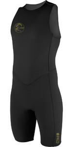 2020 O'Neill O'Riginal 2mm Back Zip Short John Wetsuit BLACK 4529