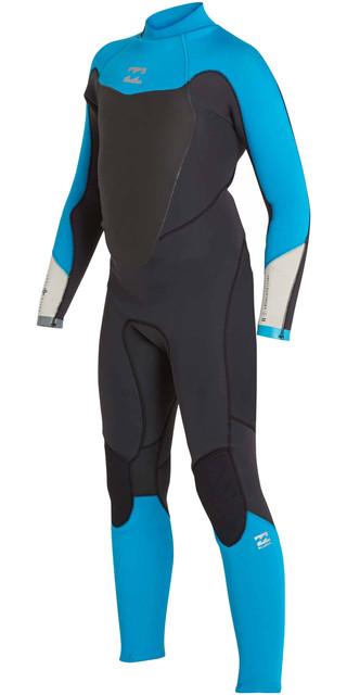 2018 Billabong Junior Absolute Comp 4/3mm Back Zip Wetsuit Black Sands F44b14 Picture
