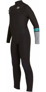 2018 Billabong Junior Revolution Tri-Bong 3/2mm Chest Zip GBS Wetsuit BLACK F43B12