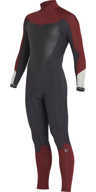 2018 Billabong Absolute 3/2mm Back Zip Flatlock Wetsuit Biking Red H43m15 Picture