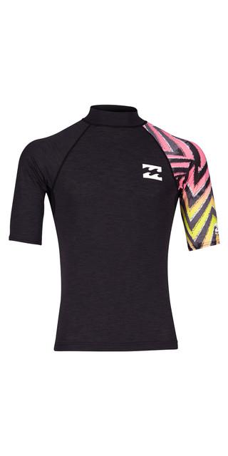 2018 Billabong Contrast Printed Short Sleeve Rash Vest Multi H4my07 Picture